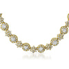 10.5 CTW Elegant Gold Tone CZ Necklace
