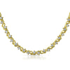 8.8 CTW Gold Tone Fancy Cubic Zirconia Necklace