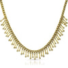 Gold Tone Fancy CZ Chandelier Necklace
