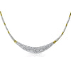 Gold Tone CZ Micropave Evening Necklace
