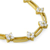 5 CTW Gold Tone Designer Flower CZ Necklace
