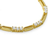 4.8 CTW Gold Tone CZ Fashion Necklace