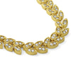 Gold Tone Cubic Zirconia Roman Wreath Necklace
