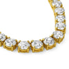 96 Carat Oversized Gold Tone CZ Necklace