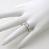Sterling Silver Fancy Art Deco 3 Stone CZ Ring