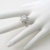 3.10 CTW Fancy Sunburst Halo CZ Fashion Ring