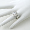 4.75 CTW Large Halo CZ Engagement Ring Set