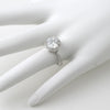 4.28 CTW Ideal Cut Sterling Silver CZ Halo Ring