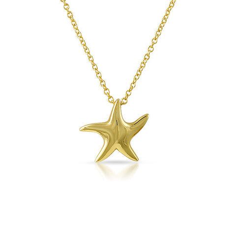 Gold Plated 3D Starfish Minimalist Necklace