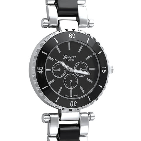 Black and Silver Paris Fashion Watch