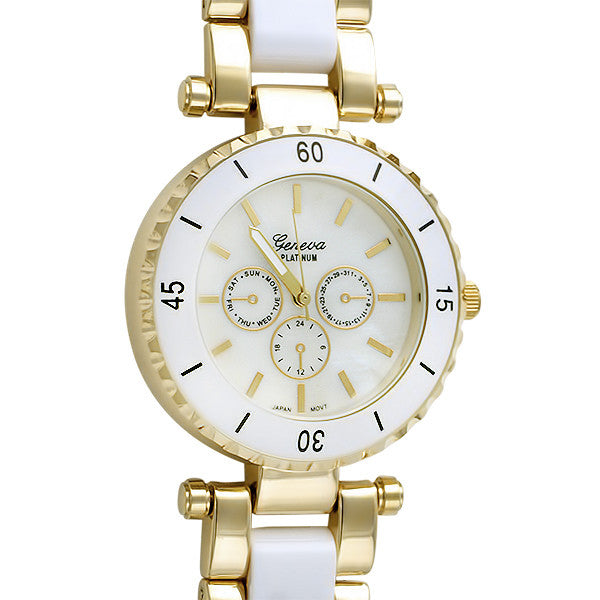 White and Gold Paris Fashion Watch