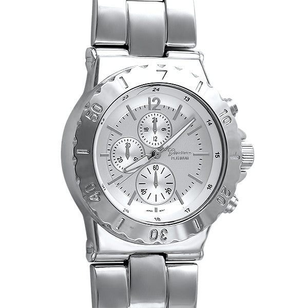 Silver Finish Sporty Women's Fashion Watch