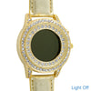 Gold Finish Light up Dial Crystal Watch