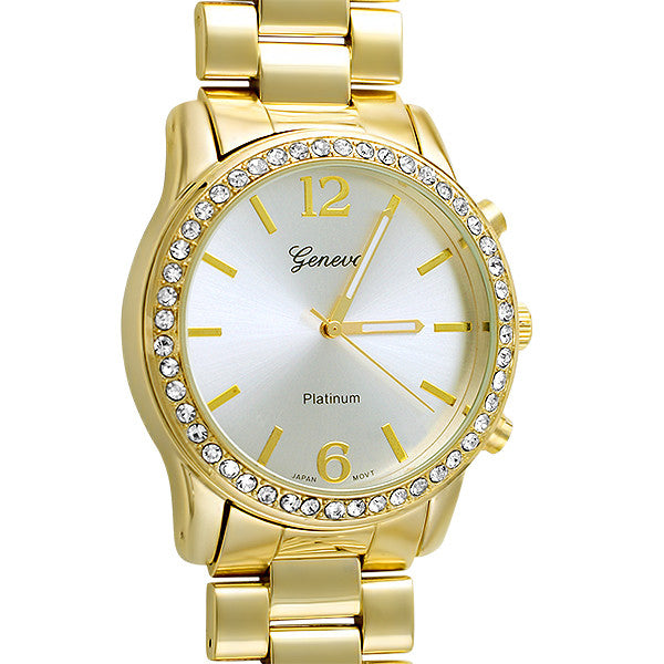 Oversized Gold Sporty Fashion Watch
