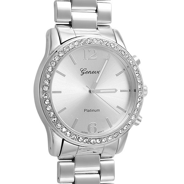 Oversized Silver Sporty Fashion Watch