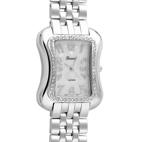 Silver Unique Rectangular Fashion Watch