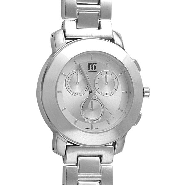 All Silver Womens Sporty Bold Watch