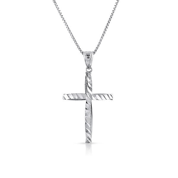 Sterling Silver Diamond Cut Cross Set