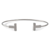 "Sterling Silver Plain ""T"" Fashion Bangle"