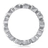 3mm CZ Silver Bezel Set Eternity Ring