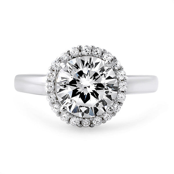 2.30 CTW Sterling Silver CZ Halo Ring