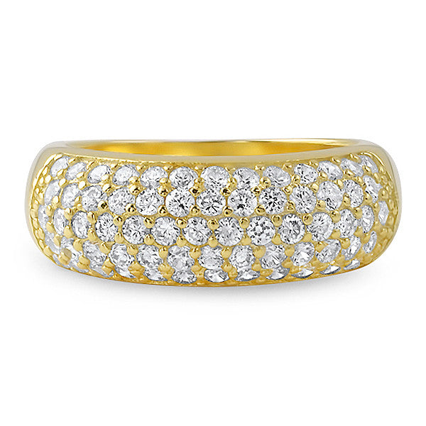 2.25 CTW 14K Gold Tone Pave' Fashion Ring