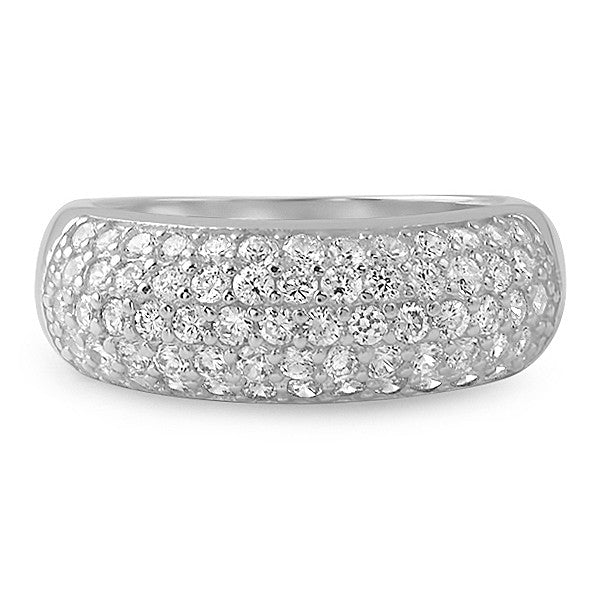 2.25 CTW Sterling Silver Pave' Fashion Ring