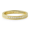 0.65 CTW Gold Tone CZ Eternity Band