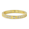 14K Gold Tone Thin CZ Fashion Band