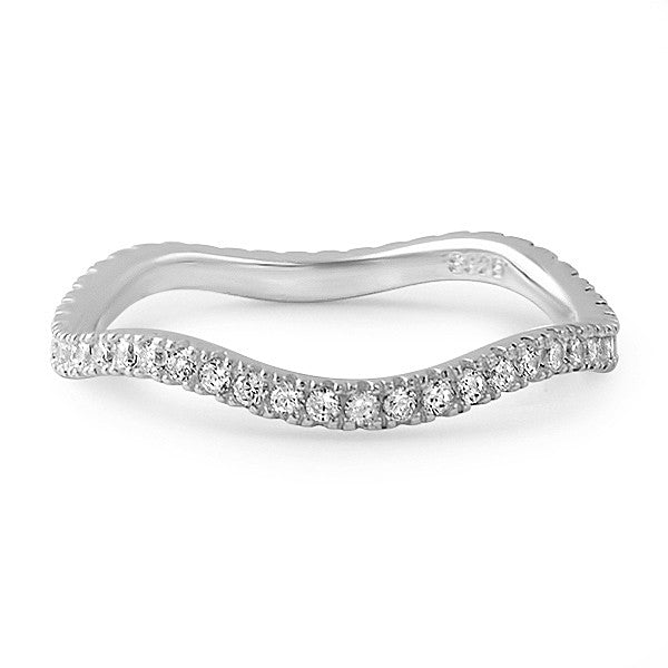 Sterling Silver Curvy CZ Eternity Ring