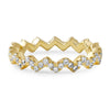 14K Gold Tone Zig Zag CZ Eternity Ring