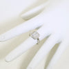 1.5 CTW Silver Princess Cut CZ Halo Ring