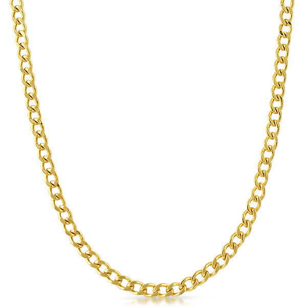 5mm 18K Gold IP Cuban Necklace