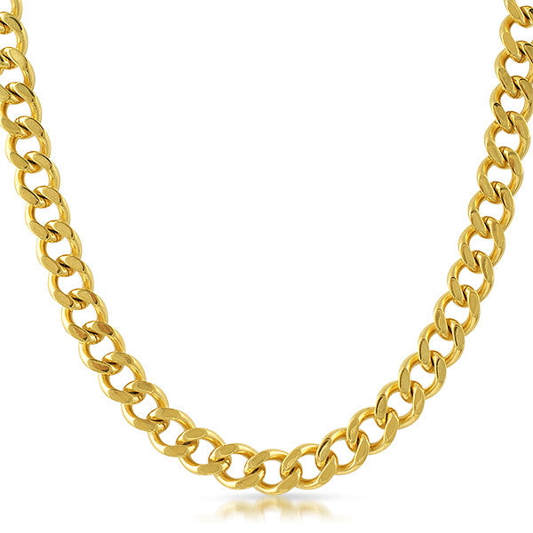 10mm 18K Gold IP Cuban Chain