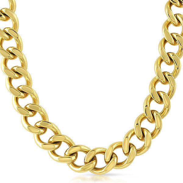18mm Jumbo Gold Chunky Chain