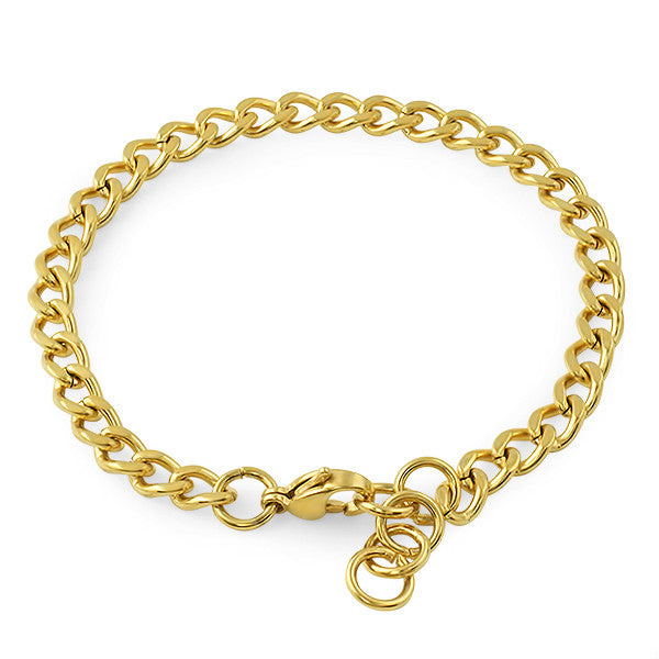 5mm 14K Gold IP Cuban Bracelet