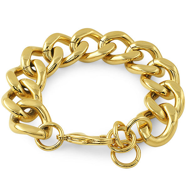 18mm Large Gold Chunky Bracelet