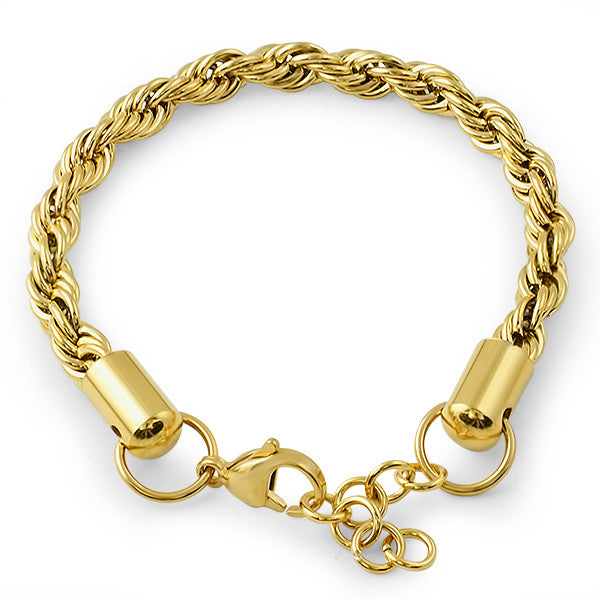6mm 14K Gold French Rope Bracelet