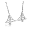 Jewelure Silver Bay Bridge Necklace
