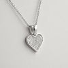 Signity CZ Micropave Heart Pendant Necklace