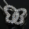 Sterling Silver Signity CZ Butterfly Necklace