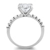 2.5 Carat Cushion Cut Solitaire 3 Ring Stackable Set