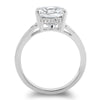 3.3 Carat CZ Cushion Cut Split Shank Engagement Ring
