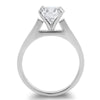 2.04 Carat Solitaire Ring With Baguette Band