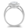 2 Carat Silver 5A CZ Halo Engagement Ring