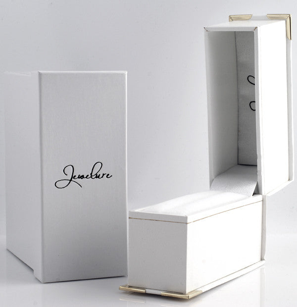White Leatherette 2 Piece Gift Box for Bangles