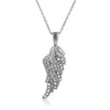 Sterling Silver Signity CZ Angel Wing Necklace