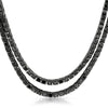 Black Simulated Diamond Double Wrap Fashion Necklace