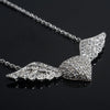 Sterling Silver Cubic Zirconia Winged Heart Necklace