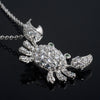 Sterling Silver Signity CZ Cancer Sign Crab Necklace